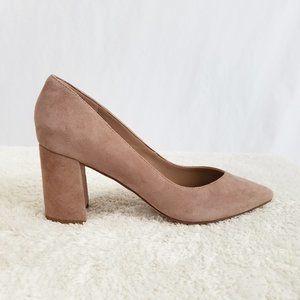 Marc Fisher block heel pink suede 7.5
